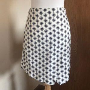 LOFT Asymmetrical Patterned Skirt Size 00P